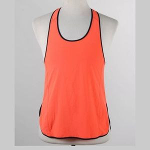 Lululemon Bright Orange and Navy Athletic Tank